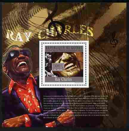 Guinea - Conakry 2010 Ray Charles perf m/sheet unmounted mint