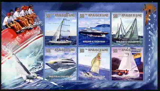 Guinea - Conakry 2010 Sailing & Yachting perf sheetlet containing 6 values unmounted mint