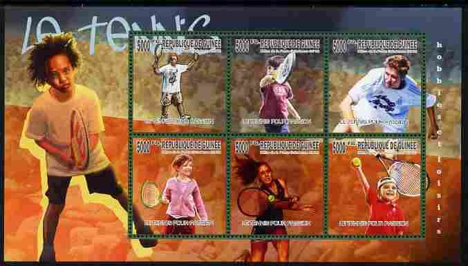 Guinea - Conakry 2010 Lawn Tennis perf sheetlet containing 6 values unmounted mint