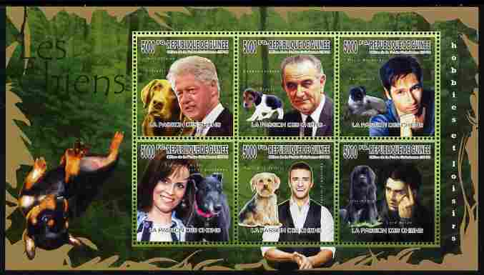 Guinea - Conakry 2010 Dogs & their Owners perf sheetlet containing 6 values unmounted mint