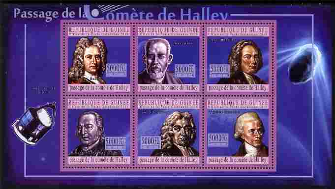 Guinea - Conakry 2010 Halley's Comet perf sheetlet containing 6 values unmounted mint