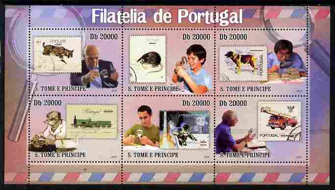 St Thomas & Prince Islands 2010 Stamp On Stamp - Stamps of Portugal perf sheetlet containing 6 values unmounted mint