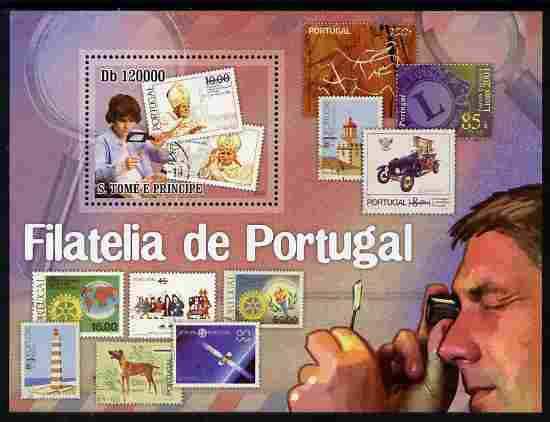 St Thomas & Prince Islands 2010 Stamp On Stamp - Stamps of Portugal perf m/sheet unmounted mint