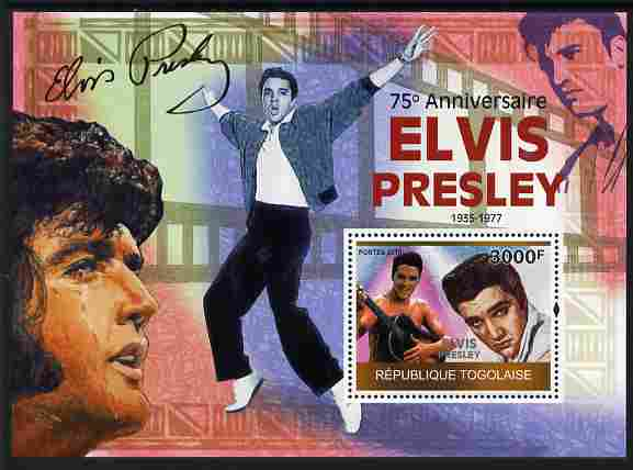 Togo 2010 75th Birth Anniversary of Elvis Presley perf m/sheet unmounted mint