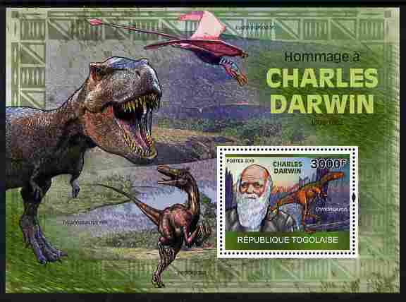 Togo 2010 Tribute to Charles Darwin perf m/sheet unmounted mint