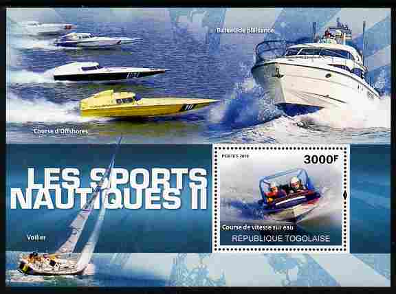 Togo 2010 Water Sports #2 perf m/sheet unmounted mint
