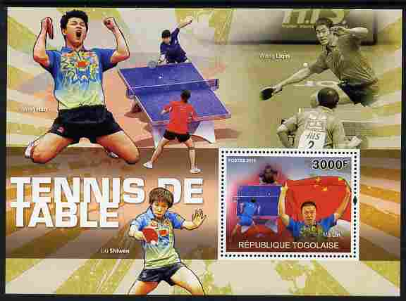 Togo 2010 Table Tennis perf m/sheet unmounted mint