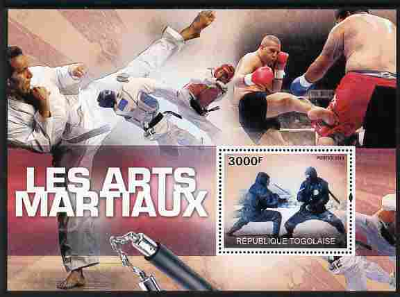 Togo 2010 Martial Arts perf m/sheet unmounted mint