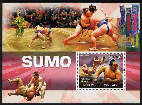 Togo 2010 Sumo Wrestling perf m/sheet unmounted mint
