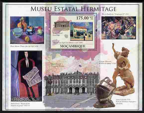 Mozambique 2010 The State Hermitage Museum perf m/sheet unmounted mint