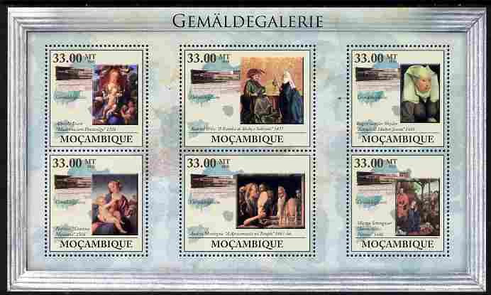 Mozambique 2010 Picture Gallery of Berlin perf sheetlet containing 6 values unmounted mint