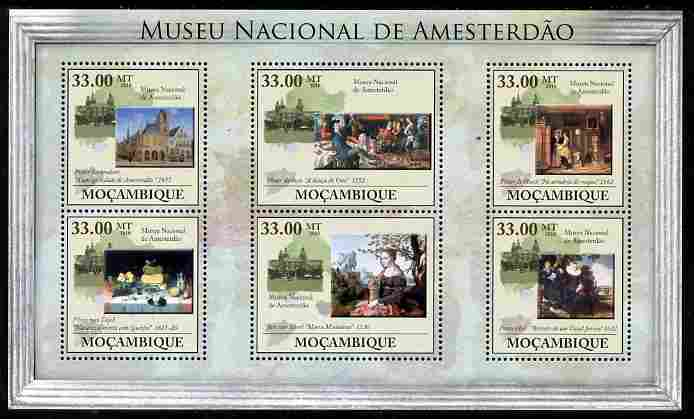 Mozambique 2010 National Museum of Amsterdam perf sheetlet containing 6 values unmounted mint