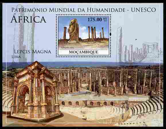 Mozambique 2010 UNESCO World Heritage Sites - Africa #1 perf m/sheet unmounted mint