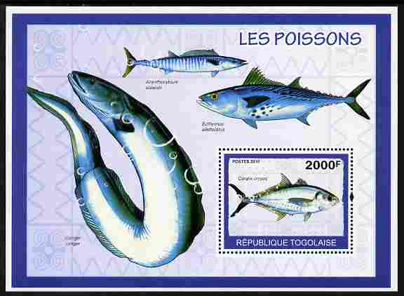 Togo 2010 Fish perf m/sheet unmounted mint