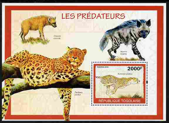 Togo 2010 Predators #2 perf m/sheet unmounted mint