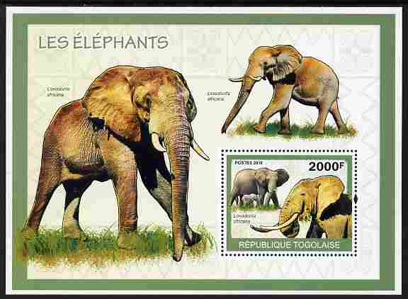 Togo 2010 Elephants perf m/sheet unmounted mint