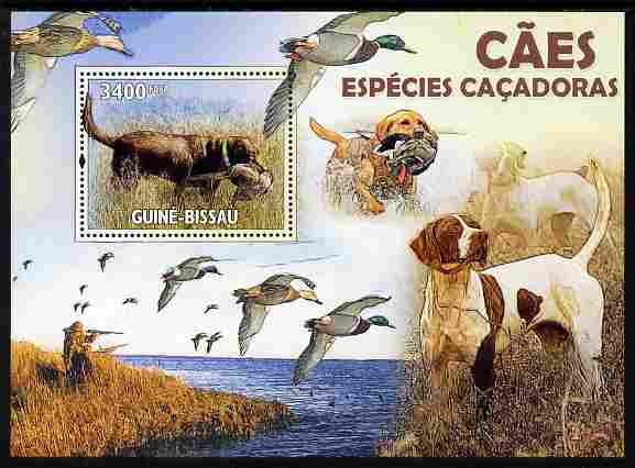 Guinea - Bissau 2010 Hunting Dogs perf m/sheet unmounted mint