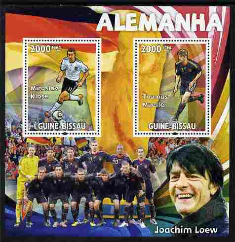Guinea - Bissau 2010 Footbal World Cup - Germany perf sheetlet containing 2 values unmounted mint