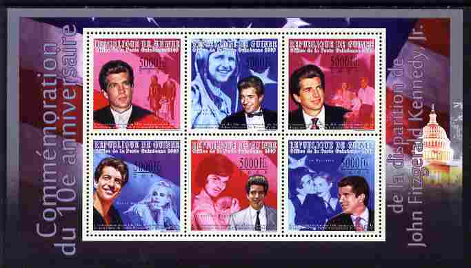 Guinea - Conakry 2009 Tenth Death Anniversary of John Fitzgeral Kennedy Jr perf sheetlet containing 6 values unmounted mint