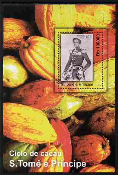 St Thomas & Prince Islands 2010 Cycle of Cocoa #1 perf m/sheet unmounted mint