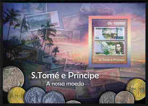St Thomas & Prince Islands 2010 Currency ofSt Thomas - Banknotes perf m/sheet unmounted mint