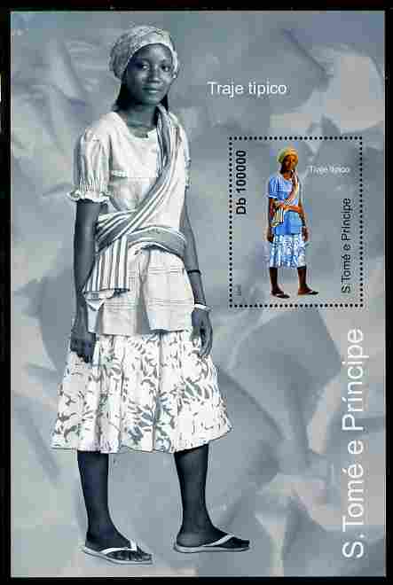 St Thomas & Prince Islands 2010 Culture ofSt Thomas - Costumes #3 perf m/sheet unmounted mint