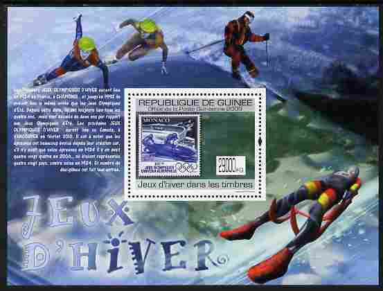Guinea - Conakry 2009 Stamp on Stamp - Winter Olympics perf m/sheet unmounted mint Michel BL 1776