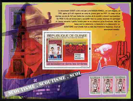 Guinea - Conakry 2009 Stamp on Stamp - Scouts perf m/sheet unmounted mint