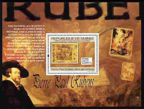 Guinea - Conakry 2009 Stamp on Stamp - Peter Paul Rubens perf m/sheet unmounted mint