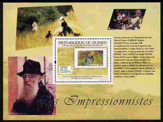 Guinea - Conakry 2009 Stamp on Stamp - The Impressionists perf m/sheet unmounted mint