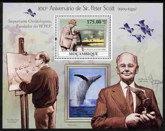 Mozambique 2009 Birth Centenary of Sir Peter Scott perf m/sheet unmounted mint Michel BL 286