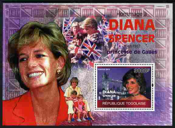 Togo 2010 Tribute to Princess Diana perf m/sheet unmounted mint Michel BL 521
