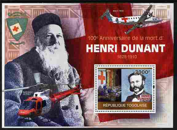 Togo 2010 Death Centenary of Henry Dunant perf m/sheet unmounted mint Michel BL 514