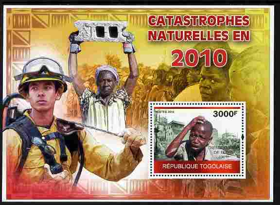 Togo 2010 Natural Disasters in 2010 perf m/sheet unmounted mint Michel BL 526
