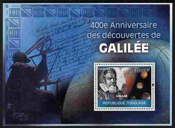 Togo 2010 400th Anniversary of Galileo's Discoveries perf m/sheet unmounted mint Michel BL 509