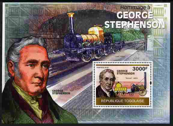 Togo 2010 George Stephenson perf m/sheet unmounted mint Michel BL 511