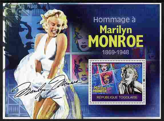 Togo 2010 Marilyn Monroe perf m/sheet unmounted mint Michel BL 517
