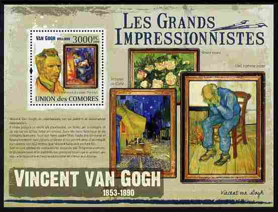 Comoro Islands 2009 Impressionists - Van Gogh perf m/sheet unmounted mint Michel BL 558