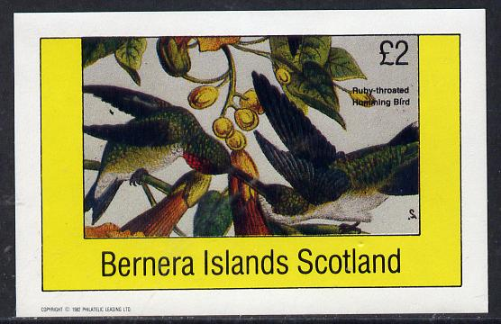 Bernera 1982 Humming Bird imperf deluxe sheet (�2 value) unmounted mint