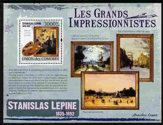 Comoro Islands 2009 Impressionists - Stanislas Lepine perf m/sheet unmounted mint Michel BL 548