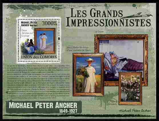 Comoro Islands 2009 Impressionists - Michael Peter Ancher perf m/sheet unmounted mint Michel BL 535