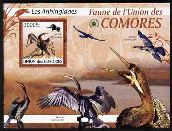 Comoro Islands 2009 Snake Bird (Darter) perf m/sheet unmounted mint Michel BL 518