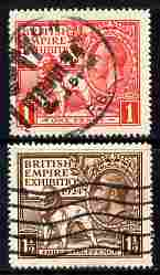 Great Britain 1924 KG5 Wembley Exhibition set of 2 good used SG430-1