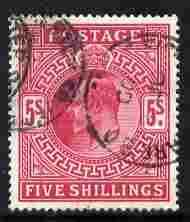 Great Britain 1902-13 KE7 5s red good cds used cat \A3200