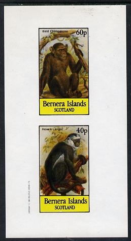 Bernera 1982 Primates (Hose's Langur) imperf  set of 2 values (40p & 60p) unmounted mint
