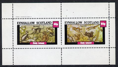Eynhallow 1982 Animals #10 (Monkeys & Squirrels) perf  set of 2 values (40p & 60p) unmounted mint