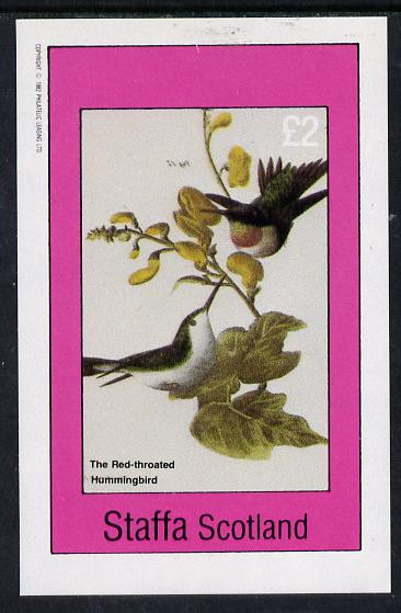 Staffa 1982 Birds #29 (Red Throated Humming Bird) imperf deluxe sheet (�2 value) unmounted mint