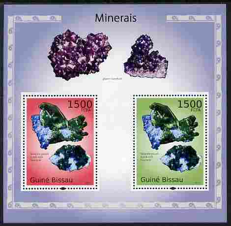 Guinea - Bissau 2010 Minerals perf s/sheet containing 2 values unmounted mint