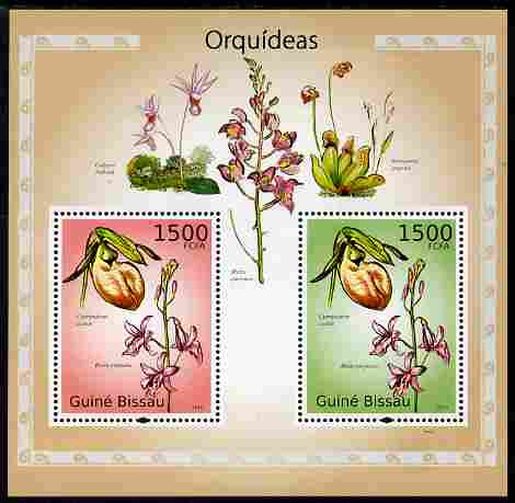 Guinea - Bissau 2010 Orchids perf s/sheet containing 2 values unmounted mint