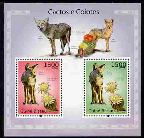 Guinea - Bissau 2010 Cactus & Cayotes perf s/sheet containing 2 values unmounted mint